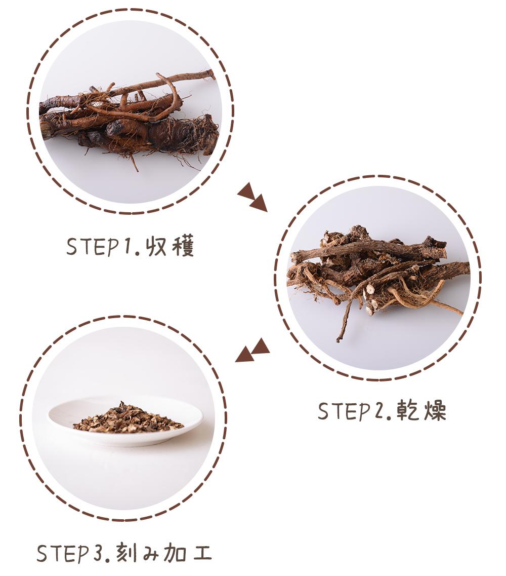 タンポポコーヒーの製造工程